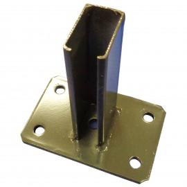 Ledűbelezhető fém talp 60x40-es oszlophoz horganyzott, vagy festett